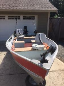 14 ft Lund DLX with 25 Hp Mercury Outboard