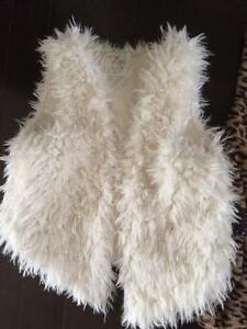 Cool Fuzzy Vest - LIKE NEW! Will fit child from maybe 6-11 yeas