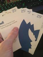 Discounted Bell prepaid phone cards