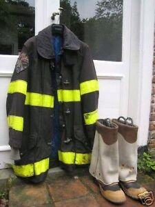 Vintage fire coat and boots