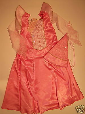 NWT Pink Sleeping Beauty Tudor Princess Sz 8 Halloween Costume Dress Pointy Hat