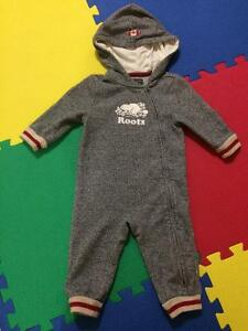 Baby Roots Cabin romper with hood