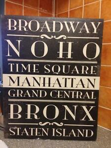 NYC Neighbourhoods Typography Print-REDUCED