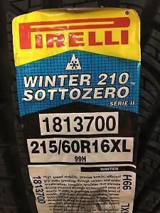 4 Brand New Pirelli  Winter 210 Sottozero 215/60R16XL Tires
