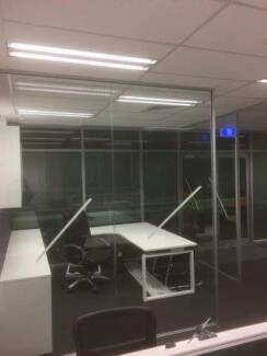 Office Partition Walls Glass Gyprock