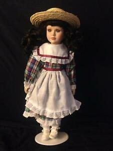 Porcelain Dolls with Stands in Mint Condition Kitchener / Waterloo Kitchener Area image 4