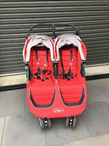 Baby Jogger City Mini Double Pram Red Rosanna Banyule Area Preview
