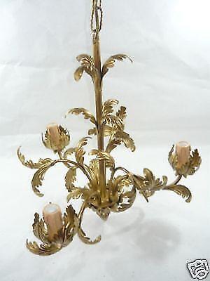 Lampadario applique plafoniera foglia acanto oro 3 luci