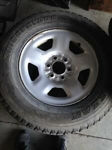 Ford 6 bolt steel rims and tires P255/70R17