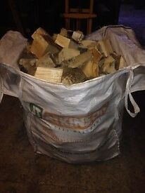 Dry seasoned hardwood and softwood logs in dumpy-bags from £45