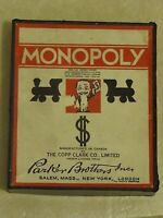 1936 Monopoly. First Canadian Edition. All wood Pieces. antique