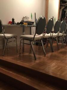6 stainless Steele chairs