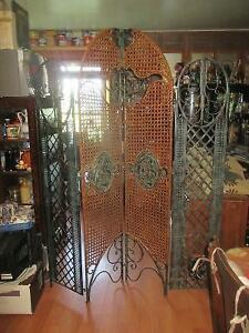 Beautiful Cast Iron/Wicker Room Divider Screen