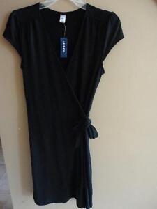 Women's Old Navy black jersey knit cap sleeve dress small NWT London Ontario image 1