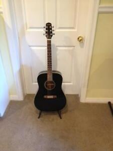 Acoustic guitar + case+ stand