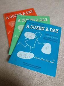 A Dozen A Day Piano Books (3)