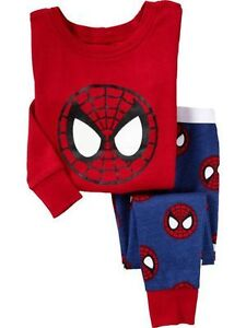 New- 12-24 Months- Baby Gap-Spiderman Long Sleeved Pajama Set