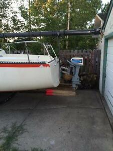 Merrit 22 foot sailboat