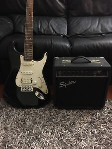 Fender Squier fat strat and amp Hurstville Hurstville Area Preview