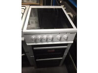 Beko 50cm Double Cavity 4 Ring Ceramic Hob Electric Cooker 1 YEAR GUARANTEE FREE FITTING