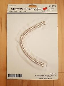 Sew-On Acrylic Fashion Collar with Glass Beads