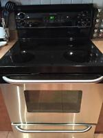 GE Range with new oven element