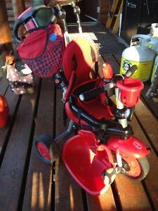 Red/black smart trike 3 in 1