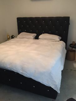 King diamonte studded bed frame NEED GONE ASAP