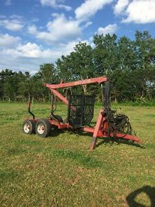 tractor/log trailer and splitter