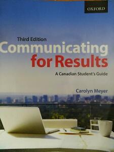 Communicating for results - A Canadian study Guide