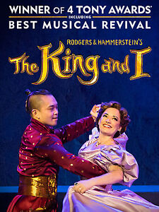 THE KING AND I, 2 PRIME ORCH SEATS TH JULY 26 PRINCESS OF WALES