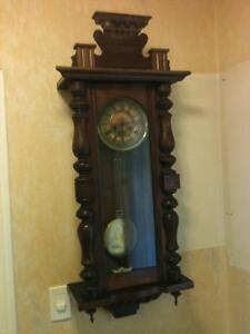 Large German Antique Vienna Regulator Chiming Clock London Ontario image 1