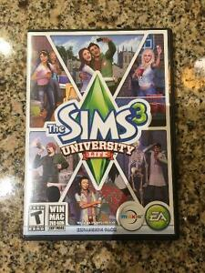 Sims 3 University Life Expansion Pack+Box/Paperwork