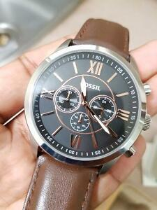 Fossil Watch - brown lather