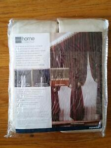 Pair of curtains, brand new, pinch-pleated cream colour London Ontario image 3