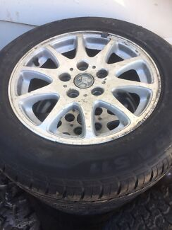 Set of Vy Holden commodore factory alloy wheels and tyres