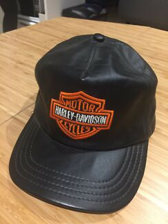 Harley leather hat