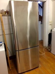 Fisher&Paykel stainless steel upside down fridge/ freezer-403L Sandy Bay Hobart City Preview