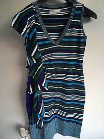 Ladies Striped Karen Millen Dress Size 3 (UK 10)