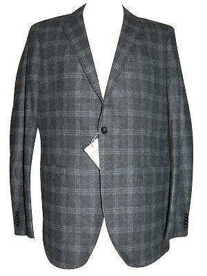 Wolle Flanell Jacke (GANT Herren Sakko Grau kariert Gr. 102 Wolle Flanell Jacke)