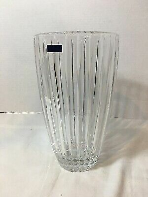 "NEW MARQUIS By WATERFORD ""Studio"" 10"" Crystal Vase AUTHORIZED DEALER"