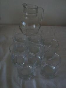Set of 10 glasses  With Pitcher