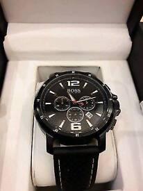 Men's Black on Black HUGO BOSS watch ex-display model (massivelyreduced price) South Croydon