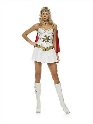 Leg Avenue Costume Super Hero 83424 White/Gold Medium (Superhero White Costume)