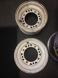 Used White ATV Wheels 10x6, 4/156, 4+2 Offset, for Polaris, Pair Edmonton Edmonton Area image 1