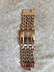 Large Face Dark Chrome GUESS Watch (Woman's)