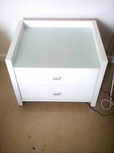 White Tall boy and two bed side tables Mandurah Mandurah Area Preview