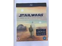 Star Wars - The Complete Saga (Blu-Ray, 2011, 9-Disc Set, Box Set) NEW & SEALED