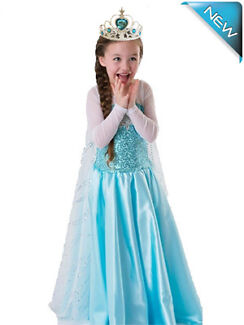 Forzen Costume Elsa Anna Olaf Onesie Dress For Kids and Adult