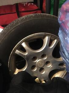 4 Winter tires on rims for sale!